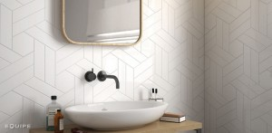 Equipe Chevron Wall White Matt Right18,6x5,2 cm