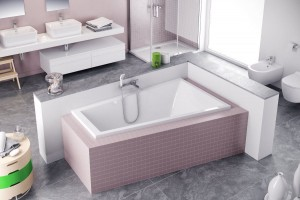 Excellent M-Sfera Slim bathtub 1600 x 950 - right