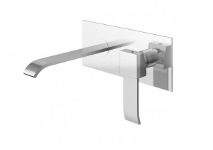 Kohlman AXIS QW188N -20cm wall-mounted washbasin mixer