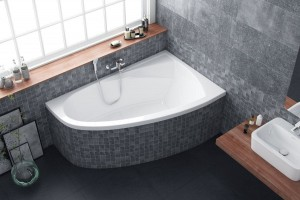 Excellent Aquaria Comfort bathtub 1600 x 1000 - right