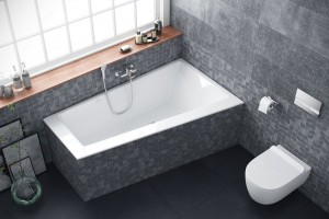 Excellent Sfera Slim bathtub 1700 x 1005 - right