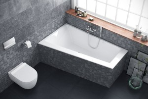 Excellent Sfera Slim bathtub 1700 x 1005 - left