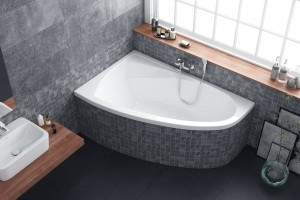 Excellent Aquaria Comfort bathtub 1600 x 1000 - left