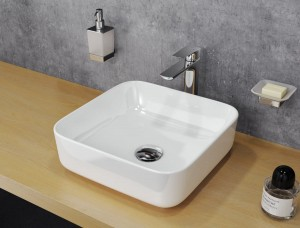 Excellent Cori 38 lay-on ceramic washbasin