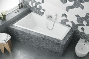Excellent M-Sfera Slim bathtub1600 x 950 - left